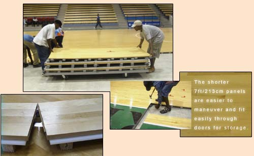 Portable Wood Basketball Floors : Universal air portable basketball floor system